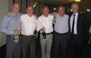 2nd team prize,, left to right Andrew Dinsdale, Mel Bulger, Robbie Witherington, and Richard Westaway