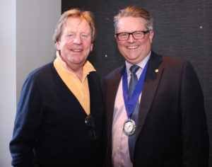 New Vice Chairman Mark Young with Chairman Richard Hazeldine